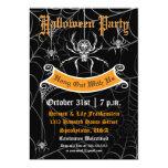 Elegant Spider Halloween Party Invitation