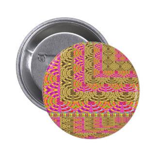 ELEGANT Spiral Diamond Waves in Layers 6 Cm Round Badge