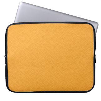 Elegant Spirals Gold Customizable 15 Inch Computer Sleeve