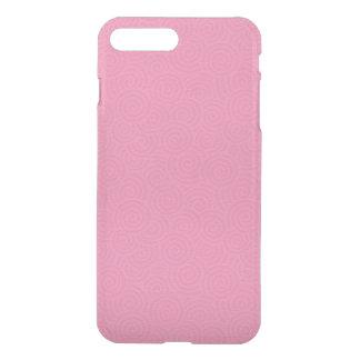 Elegant Spirals Pink Custom iPhone 7 Plus Case