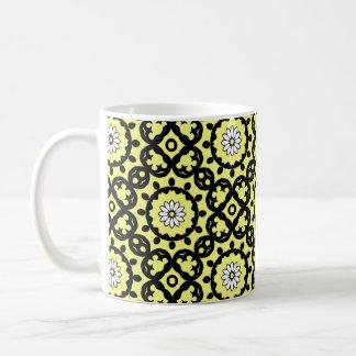 Elegant spring daisy kaleidoscope basic white mug