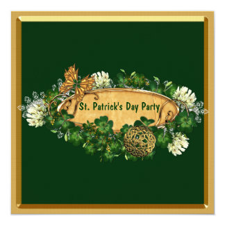 Elegant St. Patrick's Day Party Personalized Invitation