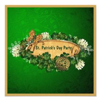 Elegant St. Patrick's Day Party 5.25x5.25 Square Paper Invitation Card