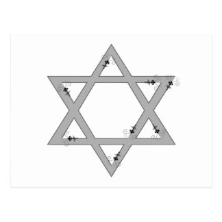 elegant star of david postcard