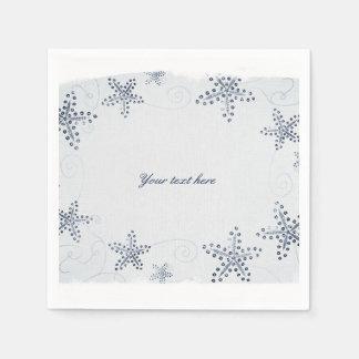 Elegant Starfish & Sequins Blue Beach Party Disposable Serviette