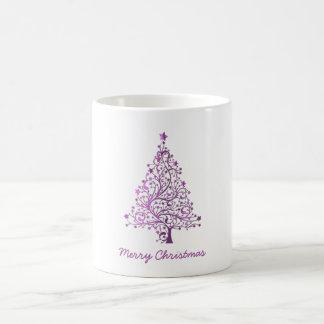 Elegant Starry Decorative Pink Christmas Tree Coffee Mug