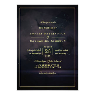 Elegant Starry Night Sky Wedding Card