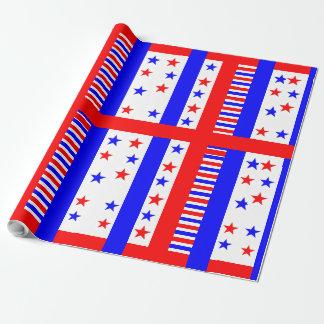 Elegant Stars and Stripes Pattern USA Flag Colors