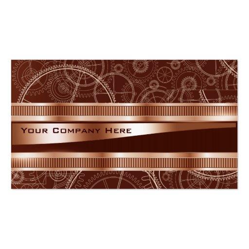 elegant steampunk engineering business card
