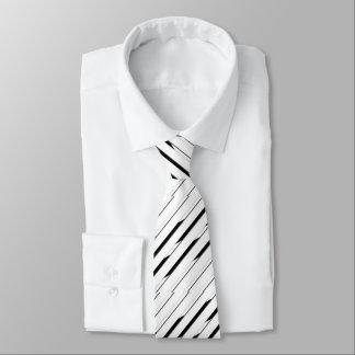 Elegant Striped Black and White Tie