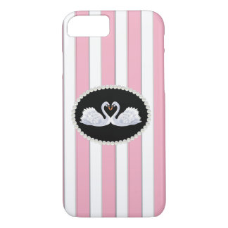 Elegant Stripes & swans Phone & Ipad Case