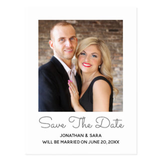 Elegant Style | Photo Save The Date Postcard