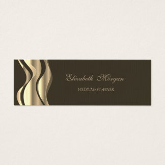 Elegant Stylish Black- Gold Mini Business Card