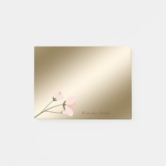 Elegant Stylish,Chic Flower Post-it Notes
