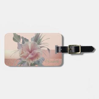Elegant Stylish Chic,Flowers Luggage Tag
