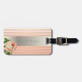 Elegant Stylish Chic,Flowers,Roses Luggage Tag