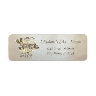 Elegant, stylish ,Christmas Bell Return Address Label