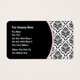 Elegant Stylish Damask Design Business Card