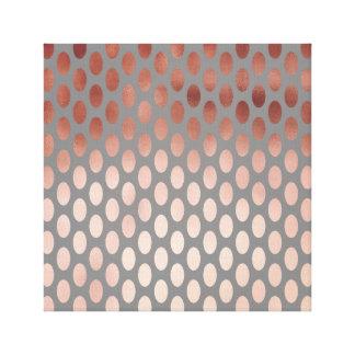 elegant stylish faux rose gold polka dots pattern canvas print