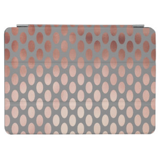 elegant stylish faux rose gold polka dots pattern iPad air cover
