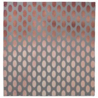 elegant stylish faux rose gold polka dots pattern napkin