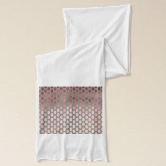 elegant stylish faux rose gold polka dots pattern scarf