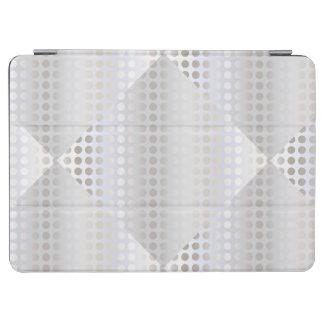 Elegant stylish faux silver polka dots pattern iPad air cover
