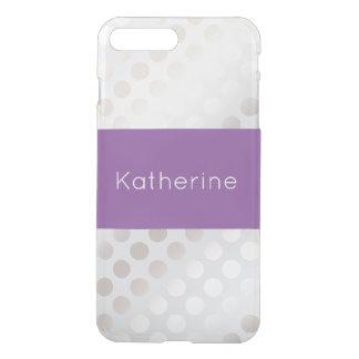 Elegant stylish faux silver polka dots pattern iPhone 8 plus/7 plus case