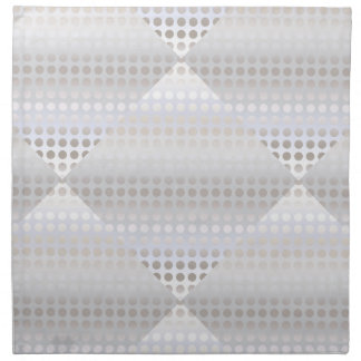 Elegant stylish faux silver polka dots pattern napkin