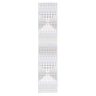 Elegant stylish faux silver polka dots pattern short table runner