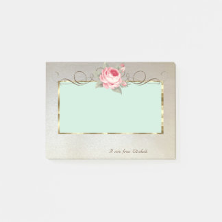Elegant Stylish,Frame,Rose Post-it Notes