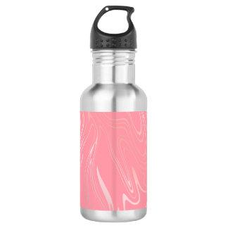 Elegant stylish girly rose gold marble look pink 532 ml water bottle