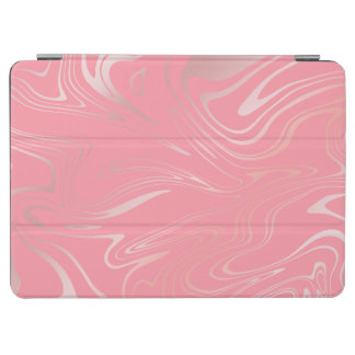 Elegant stylish girly rose gold marble look pink iPad air cover
