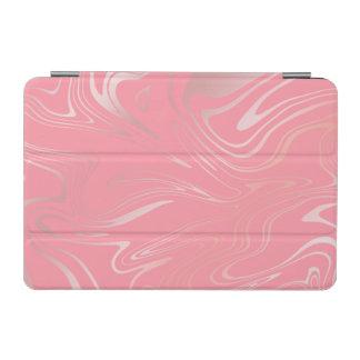 Elegant stylish girly rose gold marble look pink iPad mini cover