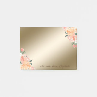 Elegant Stylish,Girly,Watercolor Flowers Post-it Notes