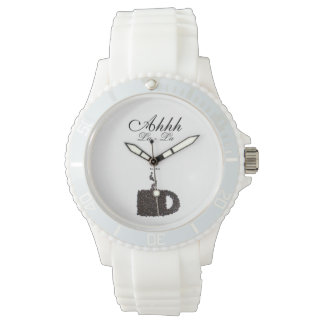 Elegant Stylish Humor Funny Cup of Coffee Java Wrist Watch