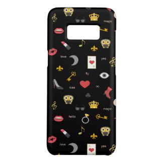 elegant stylish kisses, lips, hearts, owls, notes Case-Mate samsung galaxy s8 case