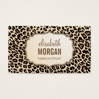 Elegant Stylish Leopard Print Girly Pattern Business Card