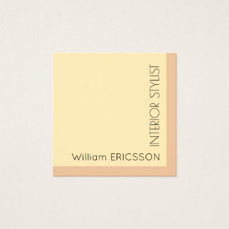 Elegant stylish minimalist cover square business card