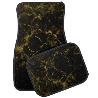 elegant stylish modern chic black and gold marble car mat
