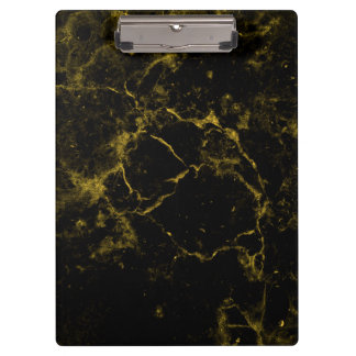 elegant stylish modern chic black and gold marble clipboard