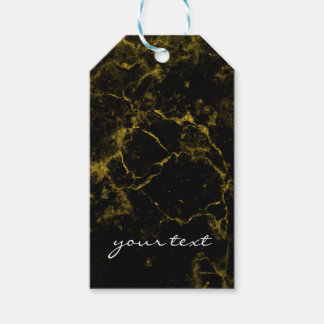 elegant stylish modern chic black and gold marble gift tags