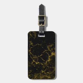 elegant stylish modern chic black and gold marble luggage tag