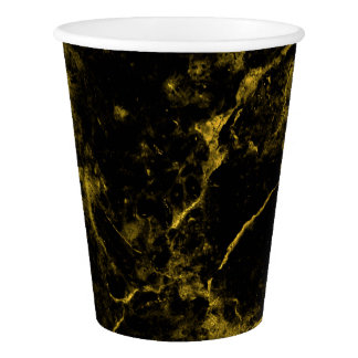 elegant stylish modern chic black and gold marble paper cup