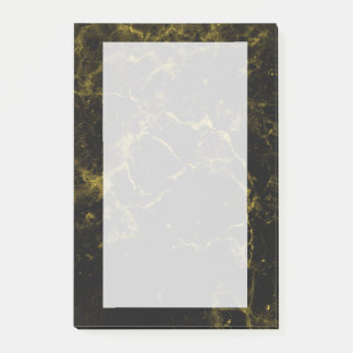 elegant stylish modern chic black and gold marble post-it notes