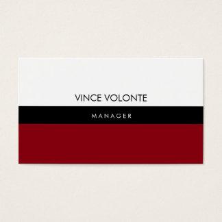 Elegant Stylish Red White Black Plain Professional