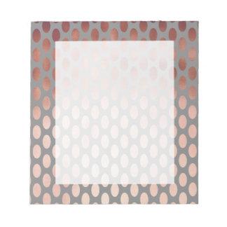 elegant stylish rose gold foil polka dots pattern notepad