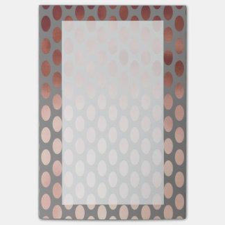 elegant stylish rose gold foil polka dots pattern post-it notes