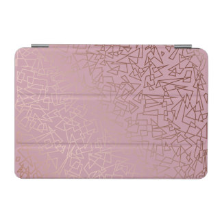 Elegant stylish rose gold geometric pattern pink iPad mini cover