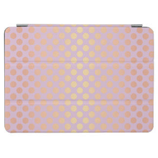 Elegant stylish rose gold polka dots pattern pink iPad air cover